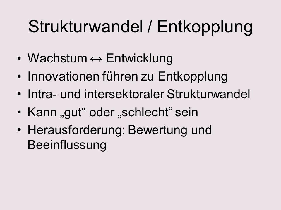Strukturwandel / Entkopplung