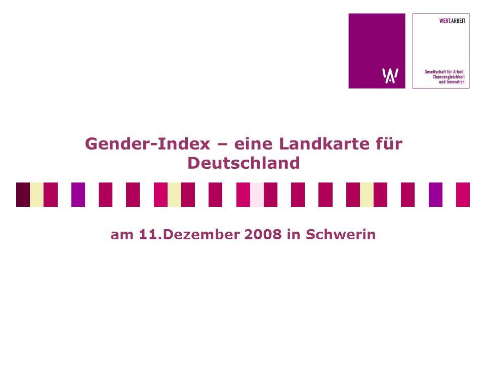 Gender-Index – eine Landkarte für Deutschland am 11