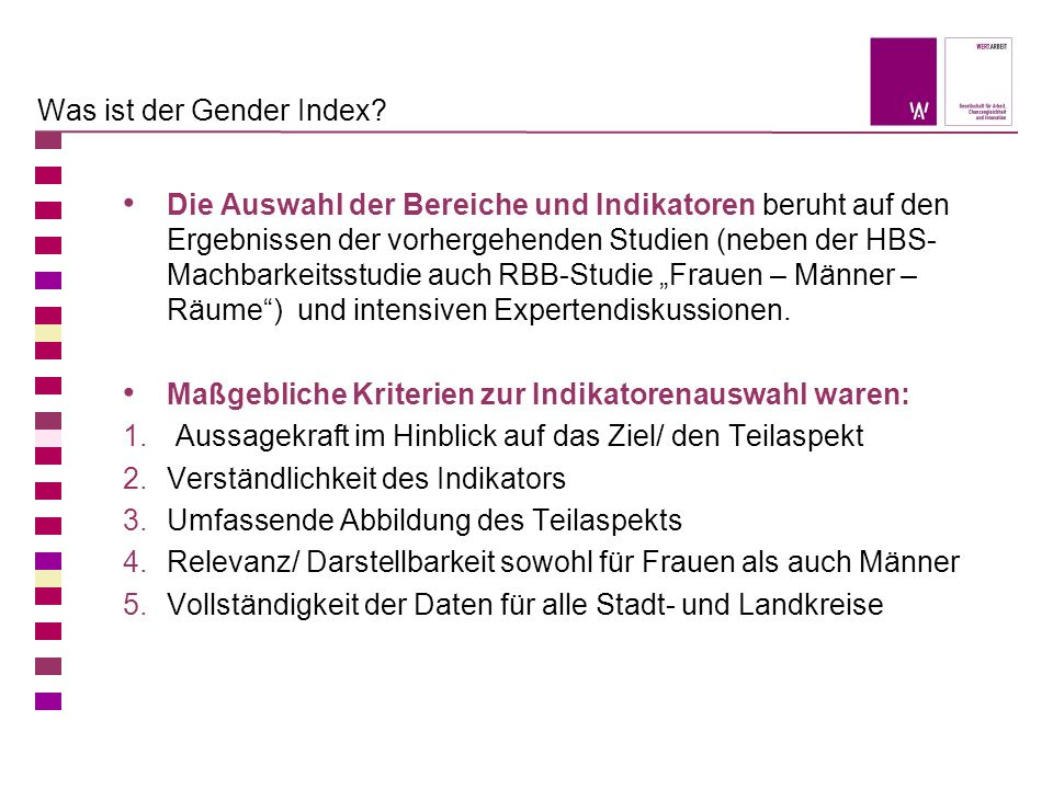 Was ist der Gender Index