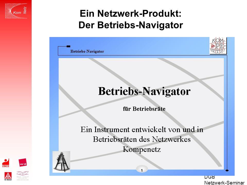 Ein Netzwerk-Produkt: Der Betriebs-Navigator
