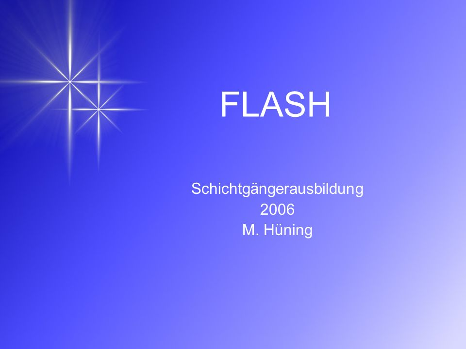 Schichtgängerausbildung 2006 M. Hüning