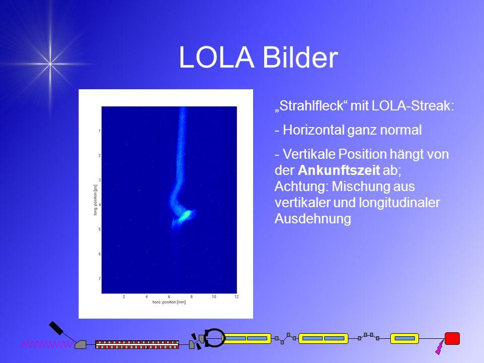 """LOLA Bilder """"Strahlfleck mit LOLA-Streak: - Horizontal ganz normal"""