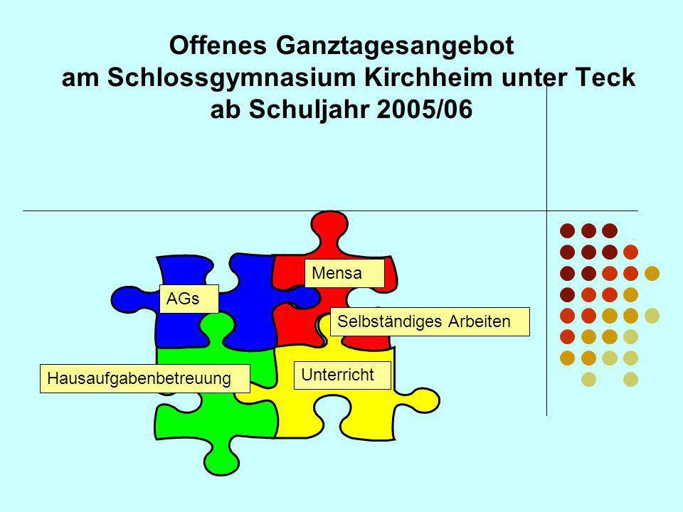 Offenes Ganztagesangebot am Schlossgymnasium Kirchheim unter Teck ab Schuljahr 2005/06