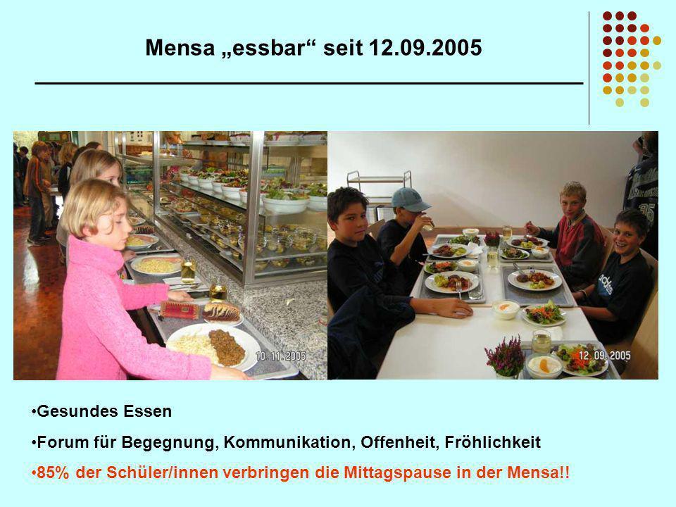 """Mensa """"essbar seit 12.09.2005 Gesundes Essen"""