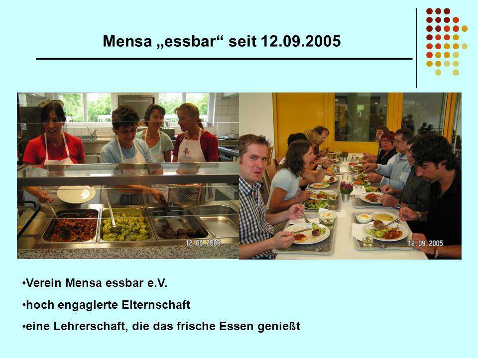 """Mensa """"essbar seit 12.09.2005 Verein Mensa essbar e.V."""