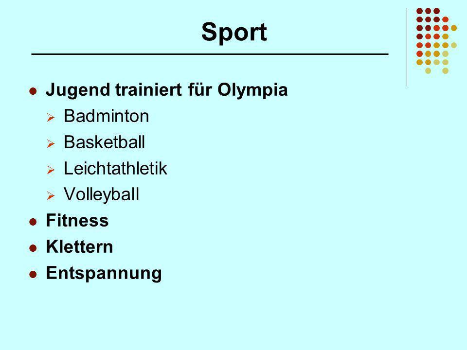 Sport Jugend trainiert für Olympia Badminton Basketball Leichtathletik