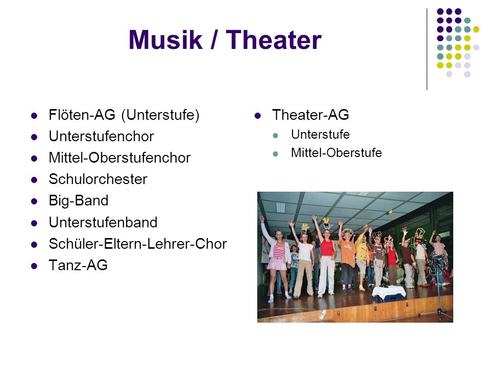Musik / Theater Flöten-AG (Unterstufe) Unterstufenchor