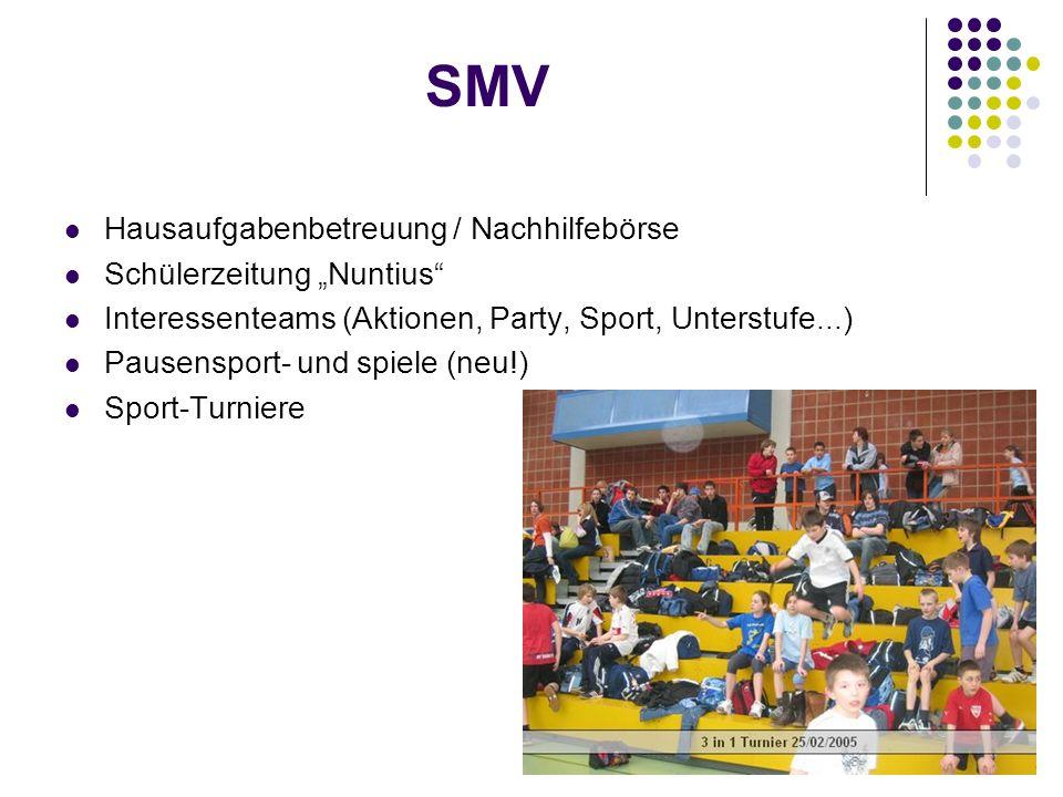 """SMV Hausaufgabenbetreuung / Nachhilfebörse Schülerzeitung """"Nuntius"""