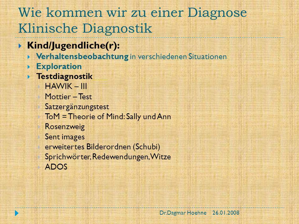 Wie kommen wir zu einer Diagnose Klinische Diagnostik