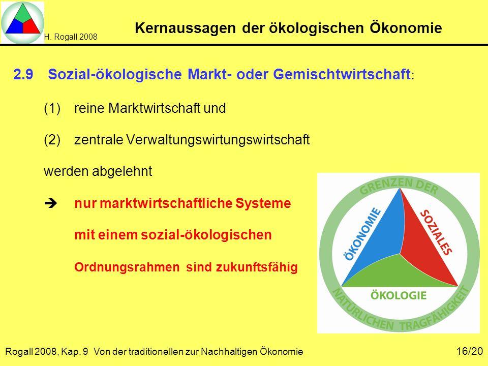 Kernaussagen der ökologischen Ökonomie