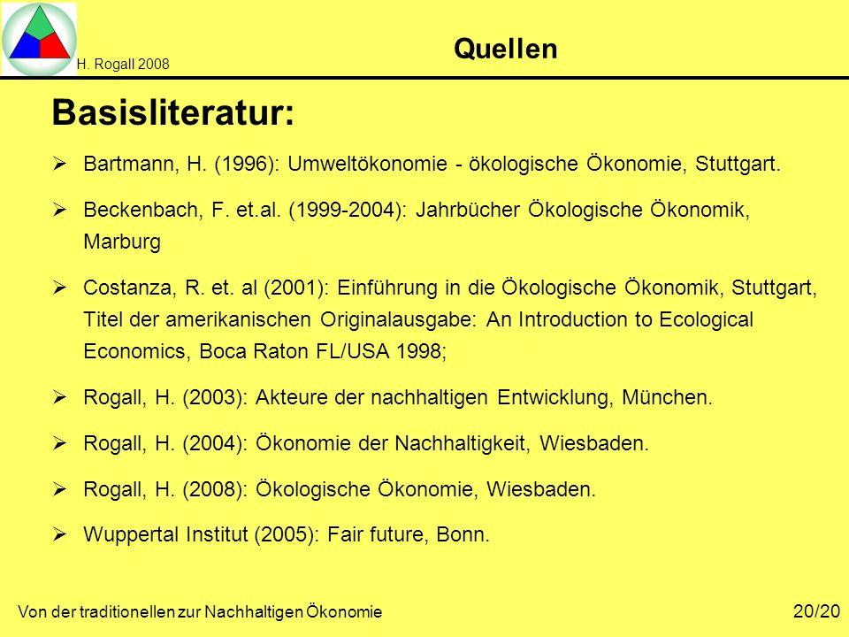 Basisliteratur: Quellen