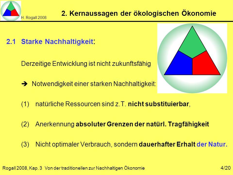 2. Kernaussagen der ökologischen Ökonomie