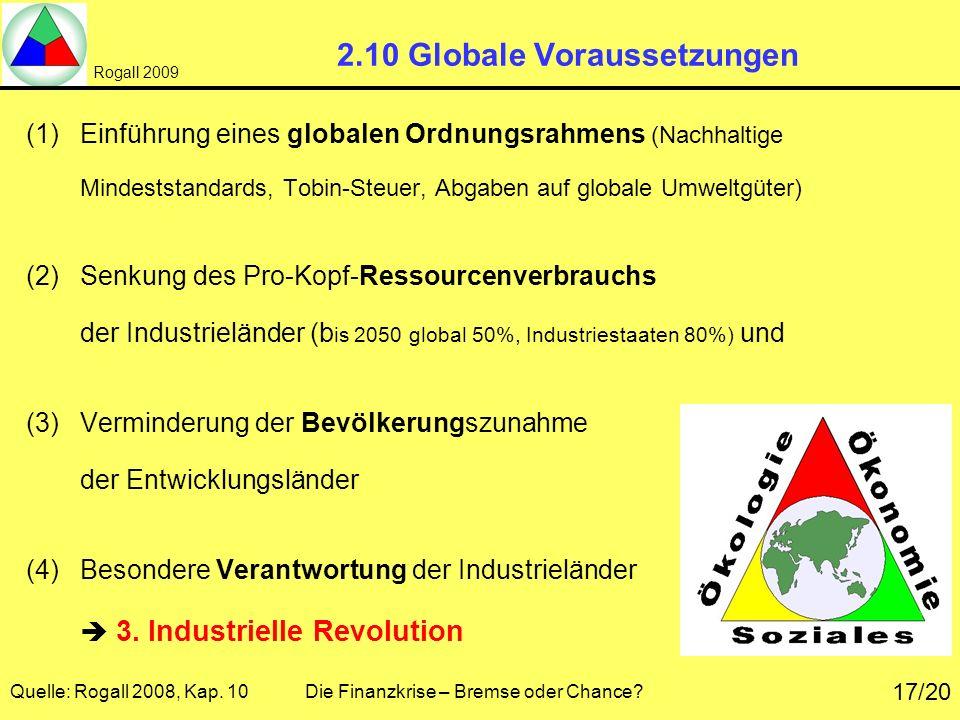 2.10 Globale Voraussetzungen