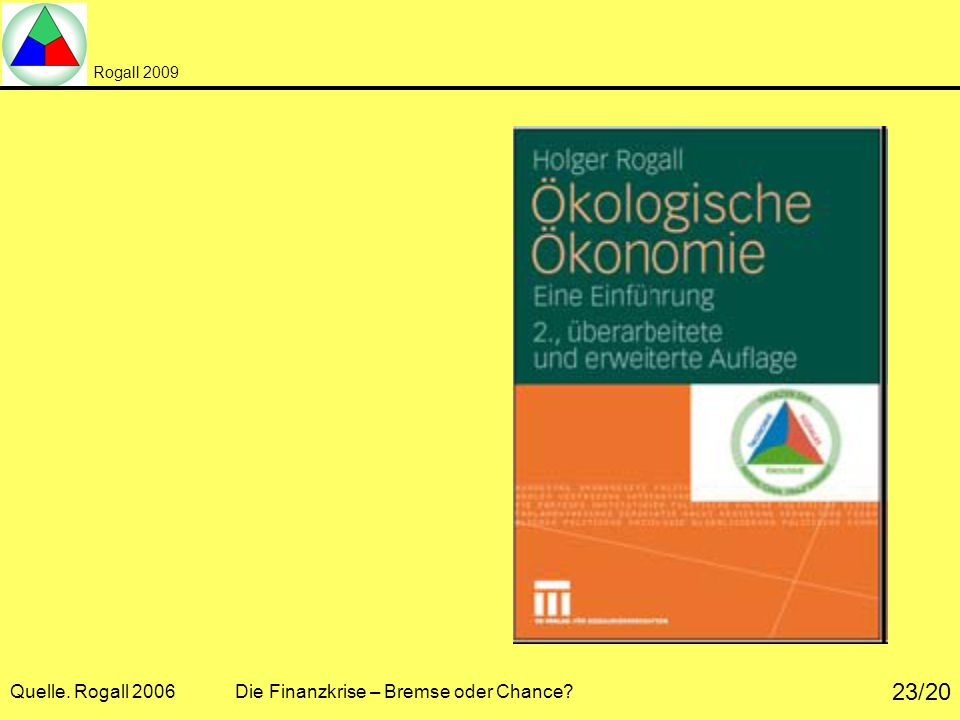 Quelle. Rogall 2006 Die Finanzkrise – Bremse oder Chance