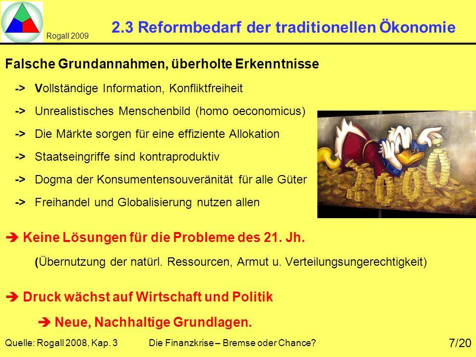 2.3 Reformbedarf der traditionellen Ökonomie
