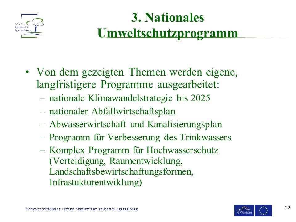 3. Nationales Umweltschutzprogramm
