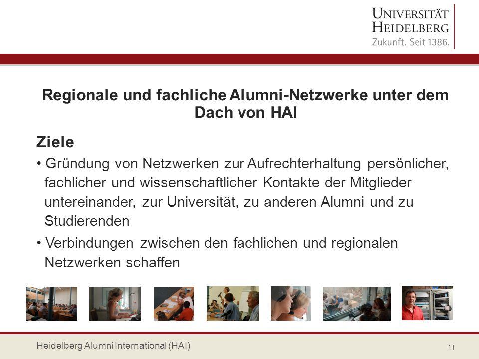 Regionale und fachliche Alumni-Netzwerke unter dem Dach von HAI