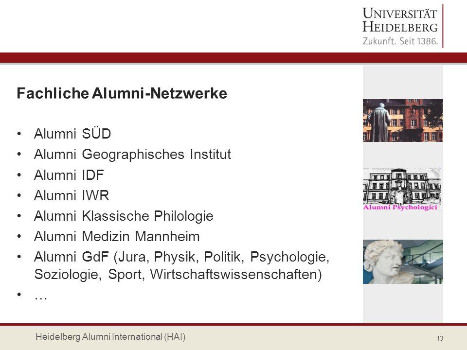Fachliche Alumni-Netzwerke