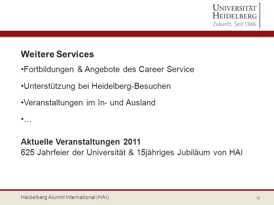 Weitere Services Fortbildungen & Angebote des Career Service