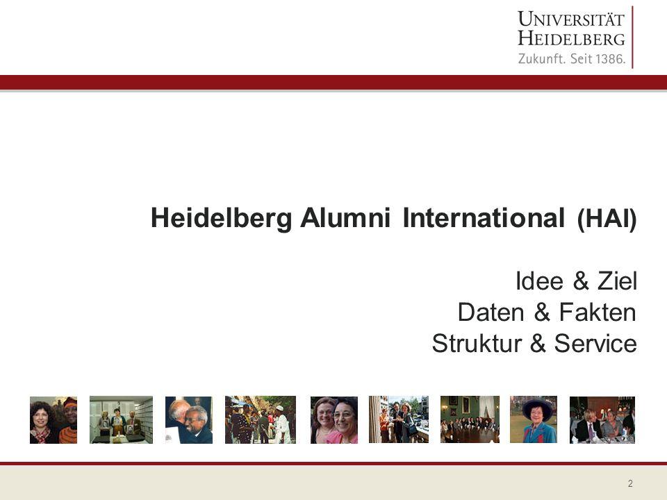 Heidelberg Alumni International (HAI) Idee & Ziel Daten & Fakten Struktur & Service