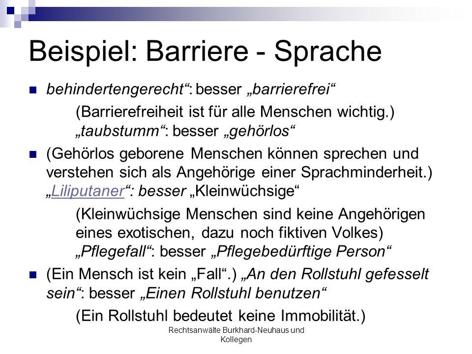 Beispiel: Barriere - Sprache