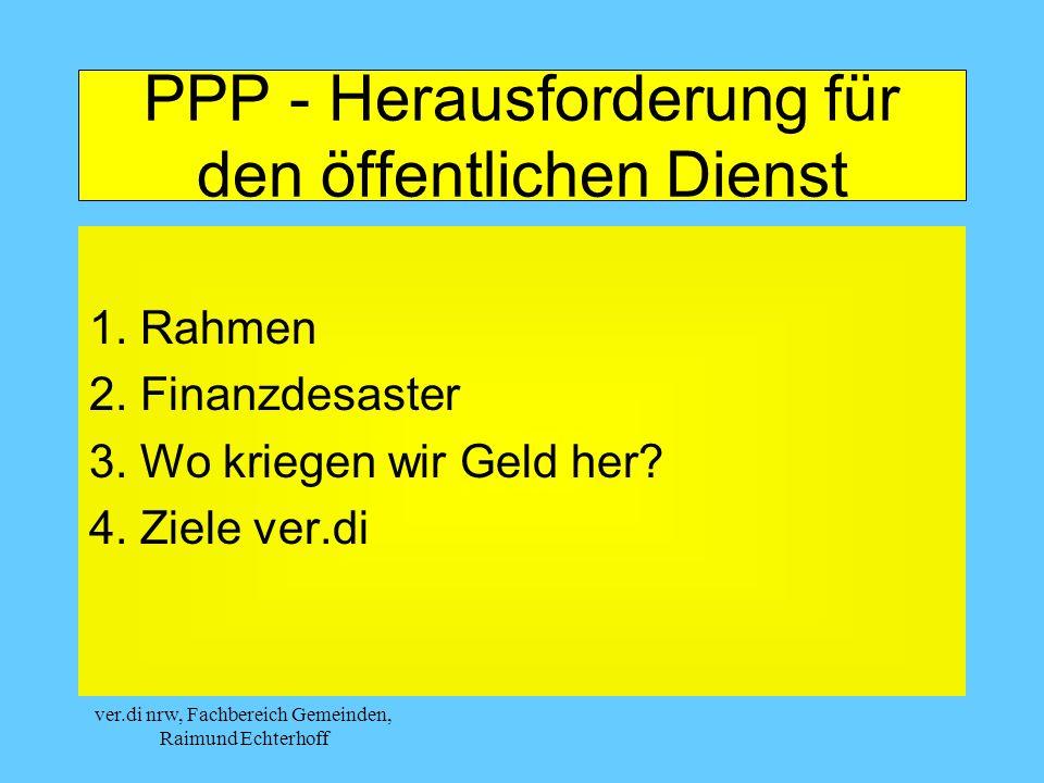 PPP - Herausforderung für den öffentlichen Dienst