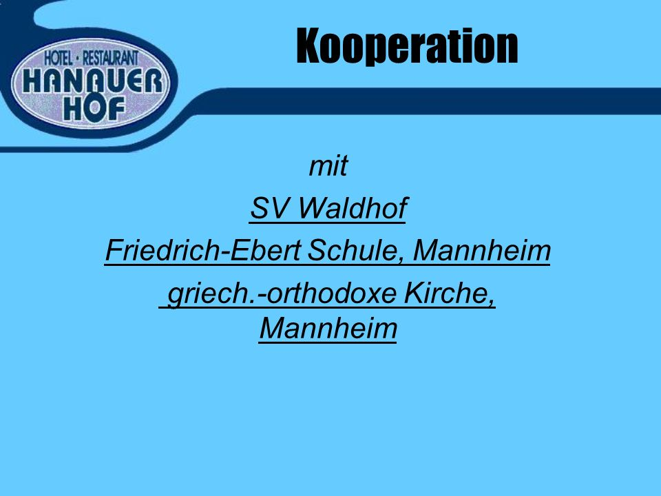 Kooperation mit SV Waldhof Friedrich-Ebert Schule, Mannheim