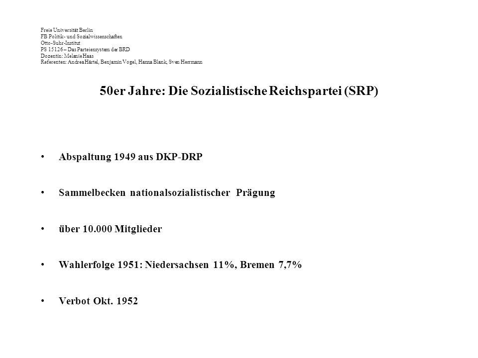 50er Jahre: Die Sozialistische Reichspartei (SRP)