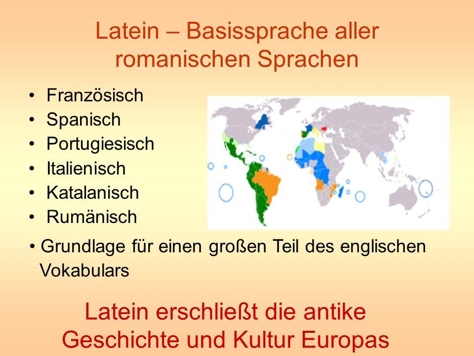 Latein – Basissprache aller romanischen Sprachen