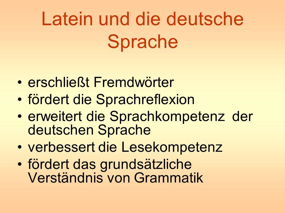Latein und die deutsche Sprache