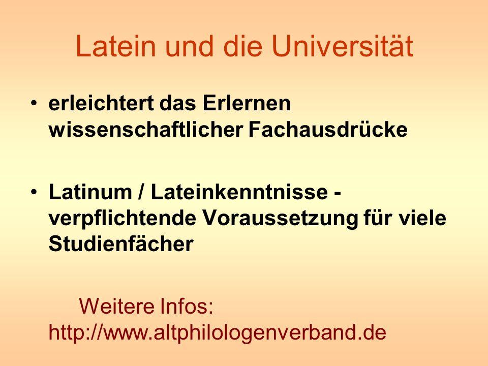 Latein und die Universität