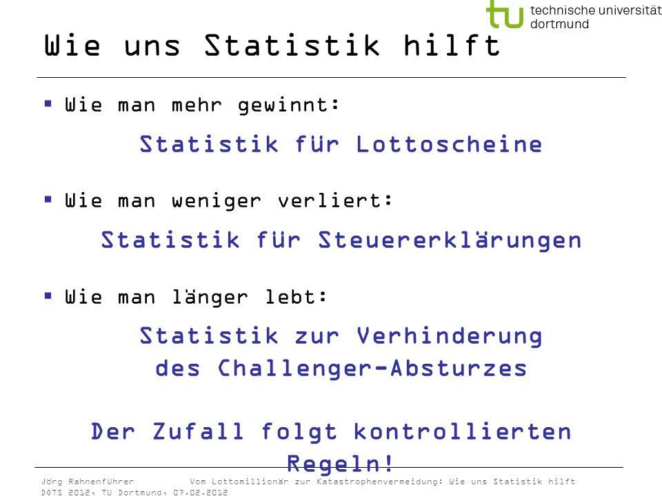 Wie uns Statistik hilft