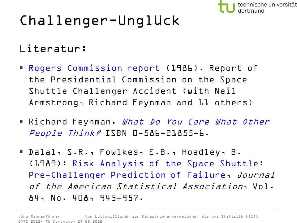 Challenger-Unglück Literatur: