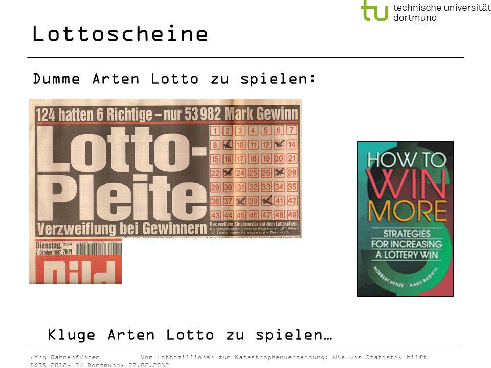Lottoscheine Kluge Arten Lotto zu spielen…