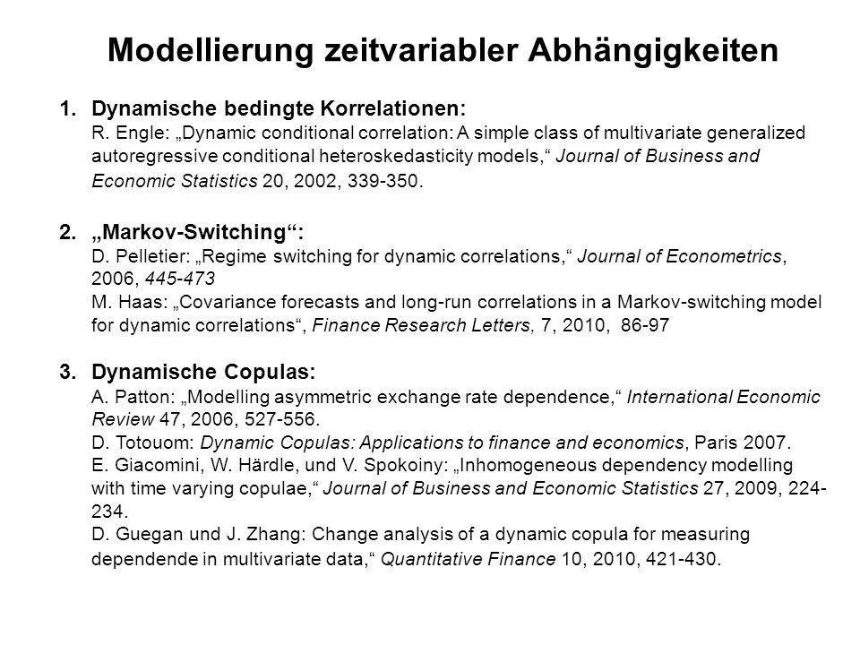 Modellierung zeitvariabler Abhängigkeiten