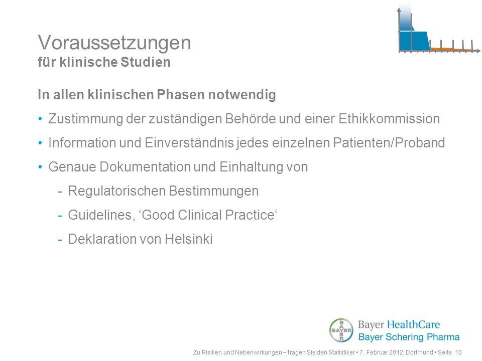 Voraussetzungen für klinische Studien