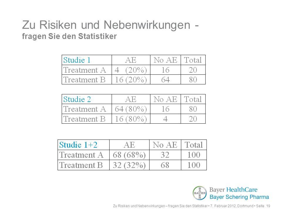 Zu Risiken und Nebenwirkungen - fragen Sie den Statistiker