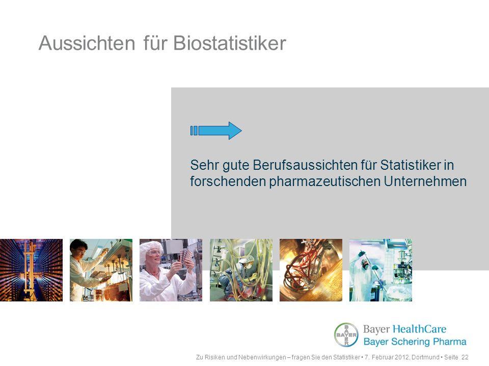Aussichten für Biostatistiker