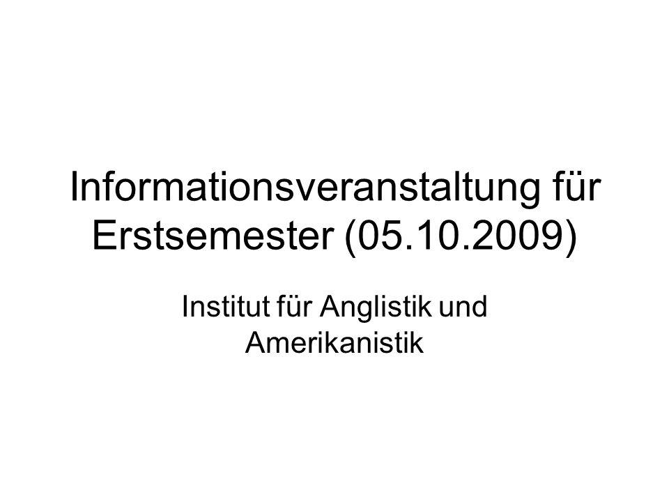 Informationsveranstaltung für Erstsemester (05.10.2009)