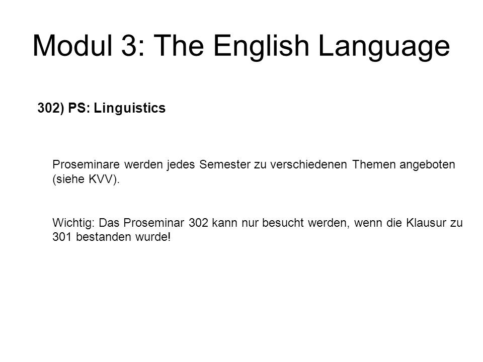 Modul 3: The English Language