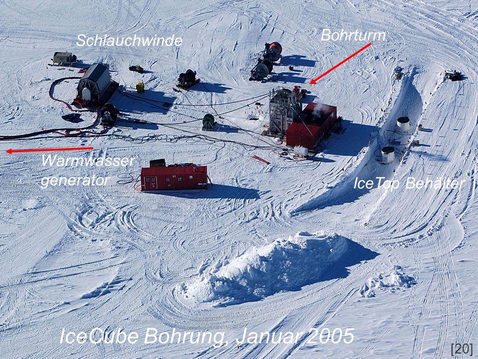 IceCube Bohrung, Januar 2005
