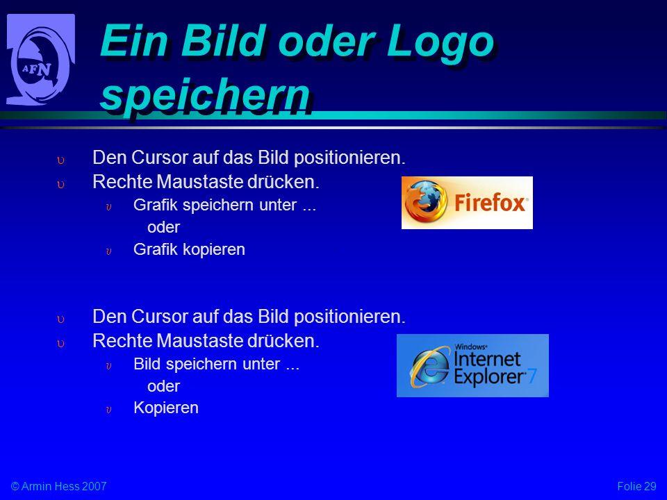 Ein Bild oder Logo speichern
