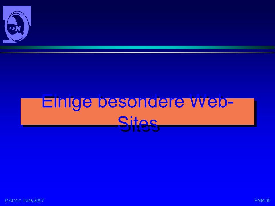 Einige besondere Web-Sites
