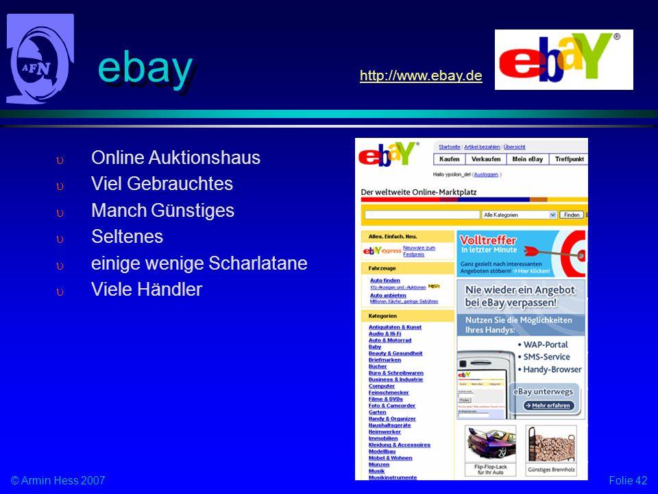 ebay Online Auktionshaus Viel Gebrauchtes Manch Günstiges Seltenes