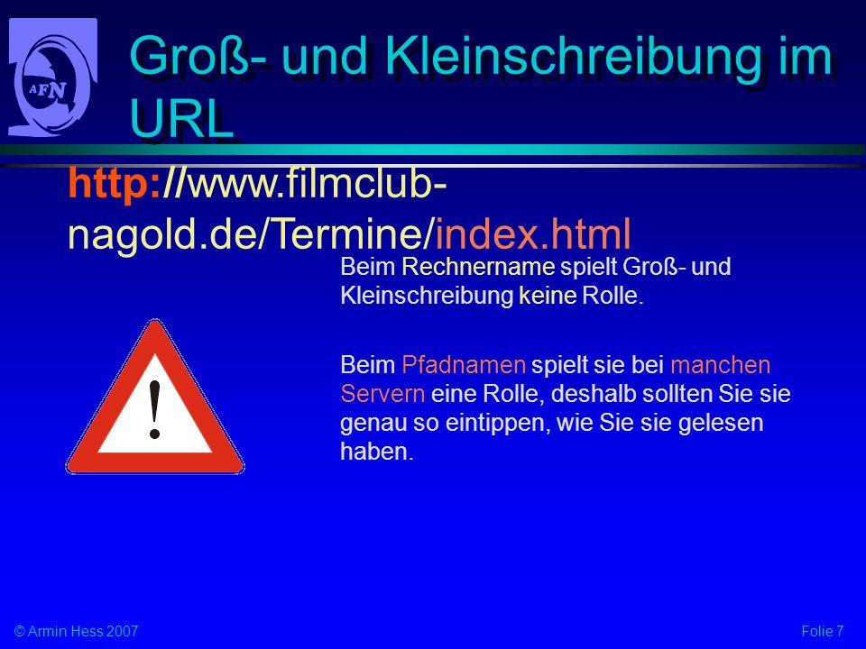 Groß- und Kleinschreibung im URL