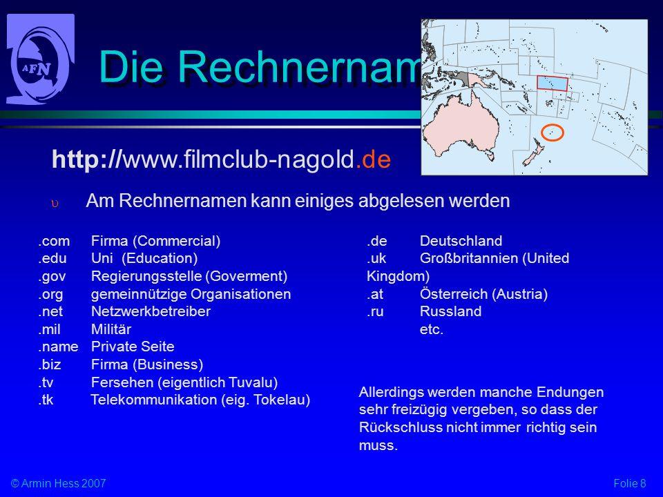 Die Rechnernamen http://www.filmclub-nagold.de