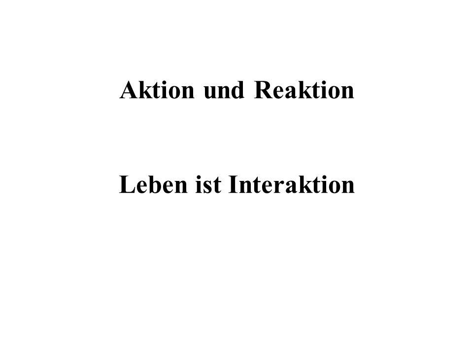 Aktion und Reaktion Leben ist Interaktion