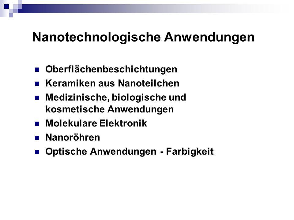 Nanotechnologische Anwendungen