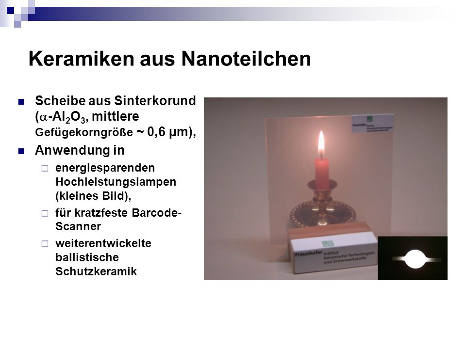 Keramiken aus Nanoteilchen