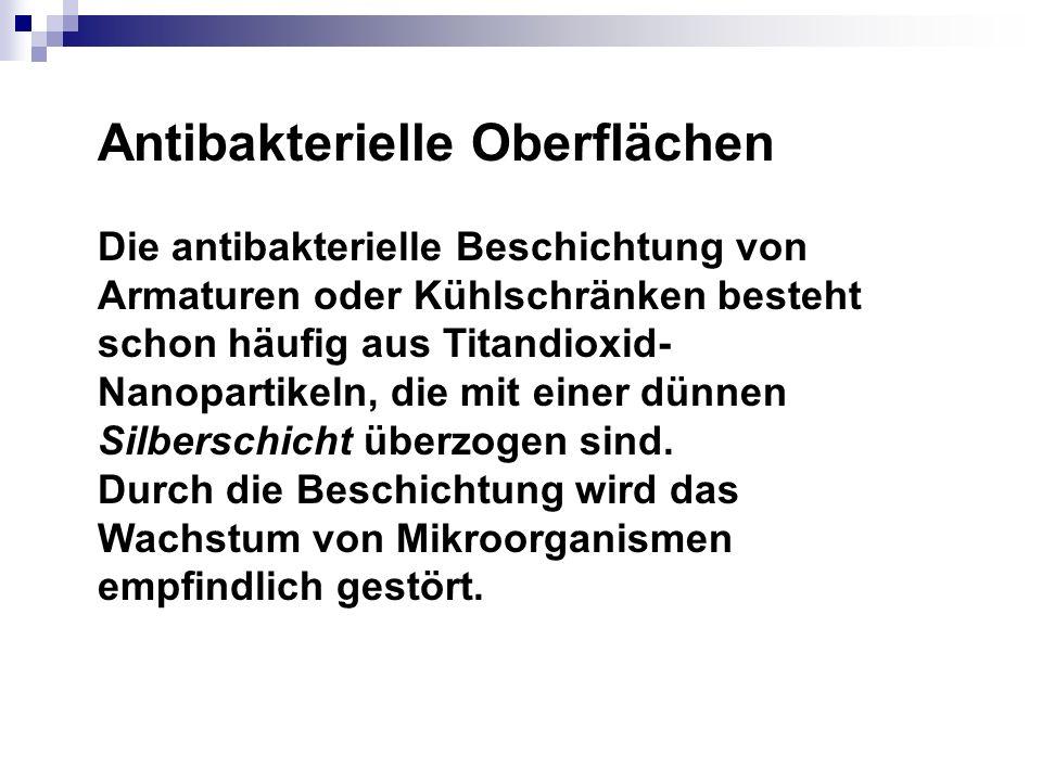Antibakterielle Oberflächen